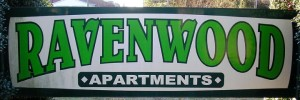 Ravenwood Apartments Sign