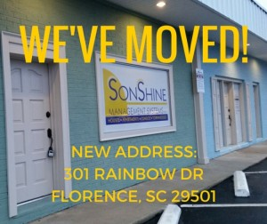 Sonshine Management Systems Inc. has moved to 301 Rainbow Dr!
